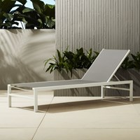 Cb2 Idle Grey Outdoor Chaise Lounge