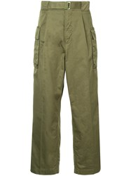 Hysteric Glamour Military Trousers Cotton Green