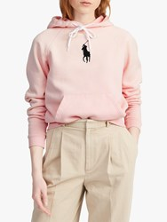 Ralph Lauren Polo Big Pony Fleece Hoodie Pink Sand