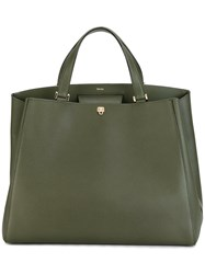Valextra Large Tote Green