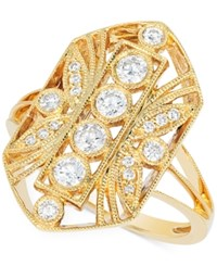 Le Vian Vanilla Deco Estate Gold Diamond 1 2 Ct. T.W. Ring In 14K Gold