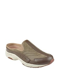 Easy Spirit Traveltime 233 Leather Clogs Brown