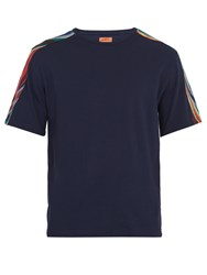 Missoni Mare Striped Cotton Jersey T Shirt Navy Multi