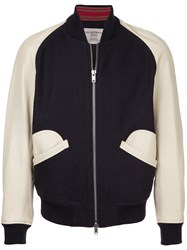 Kent And Curwen Contrast Baseball Jacket Cotton M Black