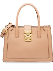 Miu Miu Confidential Madras Bag Neutrals