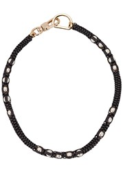 John And Pearl Toulouse Faux Ribbon Necklace Charcoal