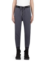 Unravel Lace Up Sweatpants Anthracite