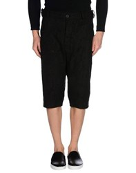 Masnada Trousers 3 4 Length Trousers Men Black