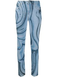 Off White Psychedelic Print Skinny Jeans 60