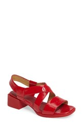 Camper Women's Kobo Strappy Sandal Red Leather