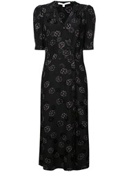 Veronica Beard Floral Silk Dress Black