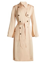 Elizabeth And James Aaron Double Breasted Tie Waist Trench Coat Nude