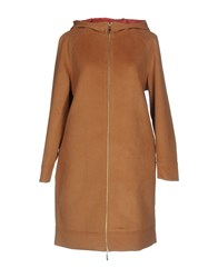 Scee By Twin Set Coats Camel