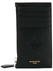 Givenchy Star Patch Zipped Cardholder Black