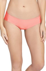 Women's Halogen 'No Show' Cheeky Hipster Briefs Coral Sugar