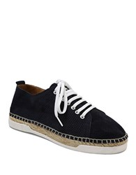 Andre Assous Shawn Lace Up Low Top Sneakers Navy Blue