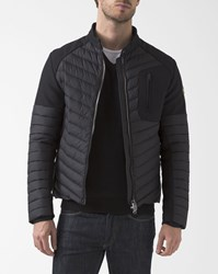 Colmar Black Neoprene Blend Padded Down Jacket