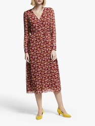 Boden Hazel Floral Midi Dress Conker Bloom