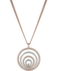 Chopard Happy Spirit 18K Two Tone Diamond Long Pendant Necklace 3.17Tcw