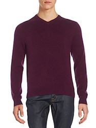 Saks Fifth Avenue Cashmere V Neck Sweater Selvage