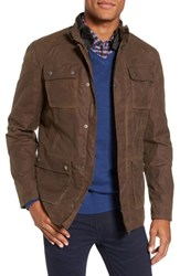 W.R.K Men's 3 In 1 Waxed Cotton Jacket With Removable Vest Dark Tan