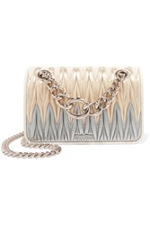 Miu Miu Club Matelasse Leather Shoulder Bag Gold