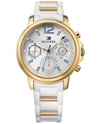 Tommy Hilfiger Women's Sophisticated Sport White Rubber Strap Watch 39Mm 1781745
