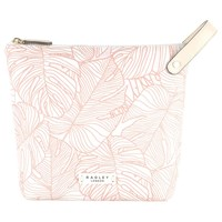Radley Wild Palms Large Cosmetic Bag Pale Pink