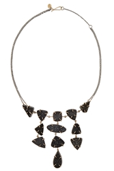 Melissa Joy Manning Sterling Silver 14 Karat Gold And Druzy Necklace