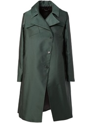 Yang Li Patch Pocket A Line Coat Green