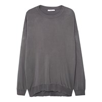 Mango Ribbed Edges Sweatshirt Charcoal