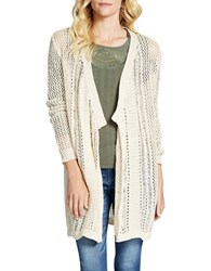 Jessica Simpson Pina Knit Cardigan Natural