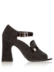 Erdem Amaris Glitter Pumps Black Multi