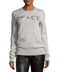 Michael Kors Holiday Peace Cashmere Sweater Gray