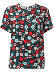 Holly Fulton Floral Print T Shirt Blouse Multicolour