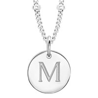 Missoma Women's Initial Charm Necklace M Silver