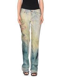 Galliano Denim Denim Trousers Women Beige