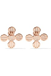 Arme De L'amour Rose Gold Plated Earrings Metallic