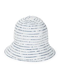 Parkhurst Reversible Bali Bucket Hat White Navy