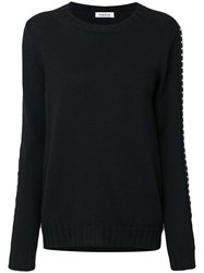 P.A.R.O.S.H. Studded Sleeves Sweatshirt Women Wool L Black