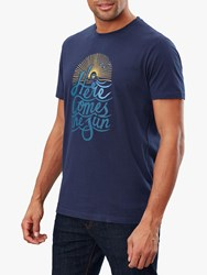 Joules Flynn Graphic Cotton T Shirt Marine Navy