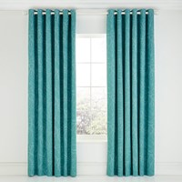 Scion Baja Citrus Lined Curtains Blue