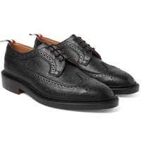 Thom Browne Pebble Grain Leather Longwing Brogues Black