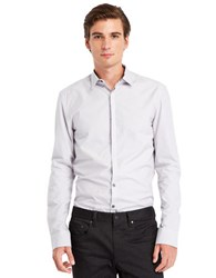 Kenneth Cole Slim Fit Check Sportshirt White