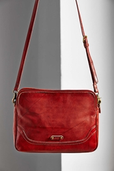 Frye Campus Crossbody Clutch Red