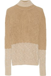 Missoni Cutout Cashmere Blend Turtleneck Sweater White