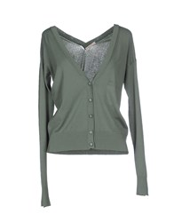 Devotion Knitwear Cardigans Women Military Green