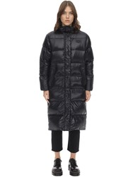 Duvetica Yildun Long Nylon Down Jacket Black