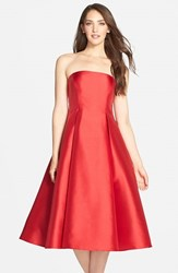 Women's Adrianna Papell Strapless Mikado Fit And Flare Midi Dress