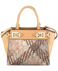 Nine West Gleam Team Small Satchel Camel